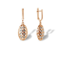 Diamond Cut Rose Gold Drop Earrings