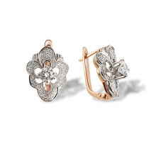 Faberge-inspired Certified Diamond Earrings