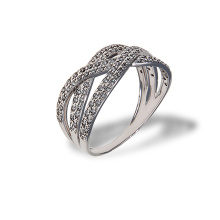 Interwoven CZ Ring