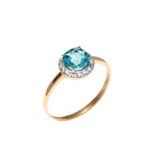 Fancy Cut Blue Topaz Ring