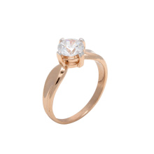 Swarovski CZ Solitaire Ring. 585 (14K) Rose Gold