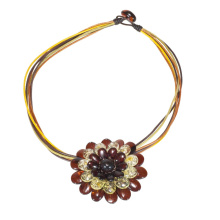 Cherry & Sunny Amber Flower Necklace