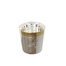 Silver whisky tumbler-glass