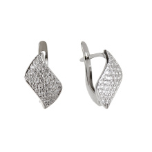Micro-Pave White Gold Earrings
