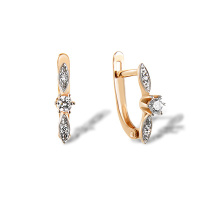 CZ Kids Lever-back Earrings
