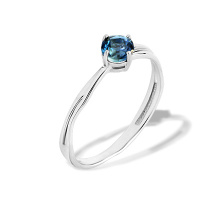 Aquamarine Anniversary Ring. Be different-Be Yourself. 'Millennials' Series