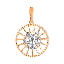 Sunburst-inspired Pendant 'Libra Zodiac'. (September 23 - October 23)