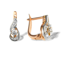 Vintage-look Certified Diamond Earrings