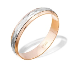 Spinner Wedding Band. 3.9mm in Width. 585 (14kt) Rose and White Gold