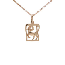 Manuscript-inspired Pendant 'Aries Zodiac'. March 21 - April 20