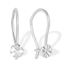 The First Earrings for Babies and Toddlers. 585 (14kt) White Gold