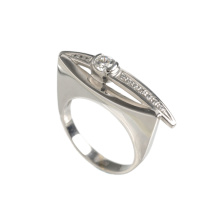 CZ Urban Style Palladium White Gold Ring