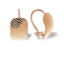 Textured Rose Gold Earrings