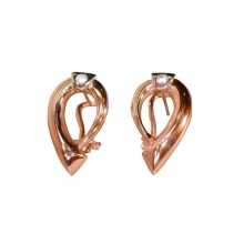 CZ Omega-back Earrings