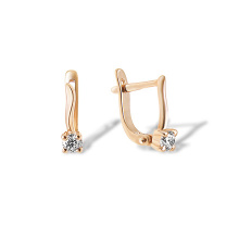Solitaire CZ Girlie Earrings