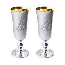 Matt Silver Champagne Glasses