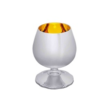 Silver Cognac Snifter: A King Size. Made by Juveel Brand