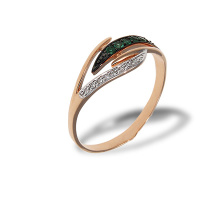 Diamond and Emerald Eclectic Ring