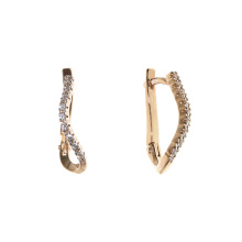 CZ Leverback Earrings