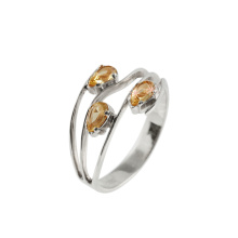 Citrine White Gold Ring