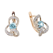 Blue Topaz Ribbon Earrings