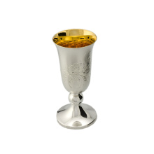 Gold Plated Matt Silver Vodka Stem Shot