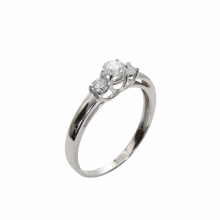 CZ White Gold Engagement Ring