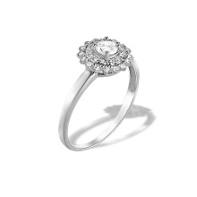 Diamond Double Halo Ring. 585 (14kt)  White Gold