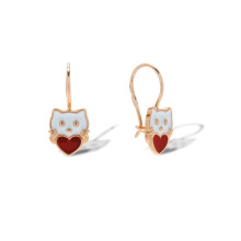 Enamel Kitty Earrings