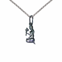 Virgo Silver Sculpture Pendant