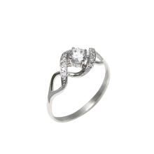 White Gold Ring With Swarovski CZ