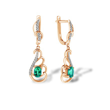 Emerald and Diamond Soigné Lace Earrings