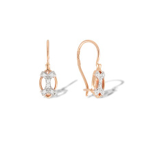 CZ Children Gold Earrings