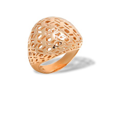 Openwork Dome Rose Gold Ring