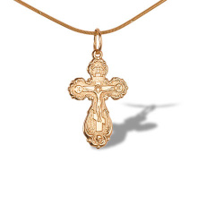 Highly Detailed Orthodox Cross Pendant
