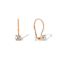 Girl's rose gold earrings