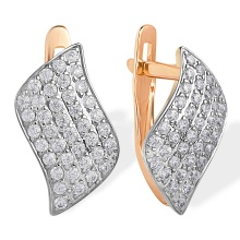 Micro-pavé CZ Earrings. 585 (14kt) Rose Gold