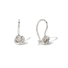 CZ White Gold Kids Earrings. 585 (14kt) White Gold
