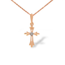 Catholic Cross Diamond Pendant