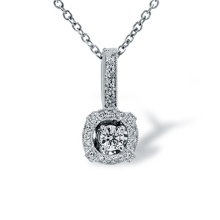 Diamond White Gold Miligree Pendant