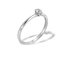 Solitaire Diamond Ring. 585 (14kt) White Gold