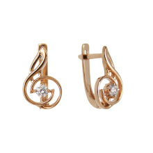 Treble Clef Shaped Earrings