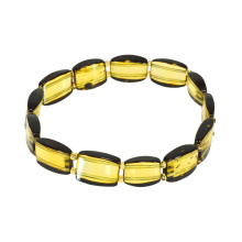 Green Amber Stretch Bracelet