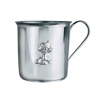 'A Puppy' Baby Silver Cup. Hypoallergenic Antimicrobial 925/999 Silver
