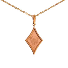 Diamond-Shaped Pendant 'Scorpio Zodiac'