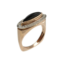 Black Onyx & Diamond Renaissance Ring