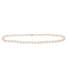 White Pearl Necklace: 9-10mm