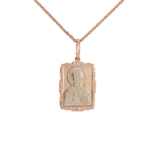 Saint Nicholas the Wonderworker. Two-tone Gold Body Icon