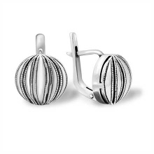 Niello Silver Earrings