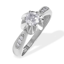 'Undimmed Radiance' 0.6ct Diamond Engagement Ring. 585 (14kt) White Gold